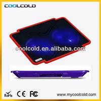 Coolcold portable dual fans usb power ultra-slim lap top cooler