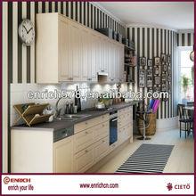 Beech door kitchen cabinet design / simple and cheap kitchen