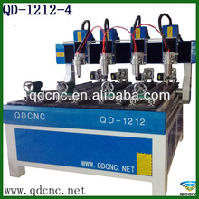 Multi Heads MDF CNC Router Machine/ CNC 4-Axis Router Rotational QD-1212-4