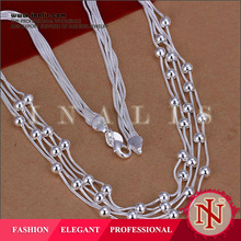 Elegant beads silver plated fashion jewelry closeout in china N213