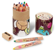 cardboard round tube cylinder felt pen case/colored pencils box