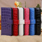 Elegant Slot Wallet Leather Cover for iPhone5 iPhone 5 Folio Case --Crocodile Style