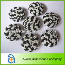 Decorative leopard beads buttons for garment clothes decoration,shoe accessory