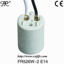 CE listed E14 porcelain cfl lamp holder