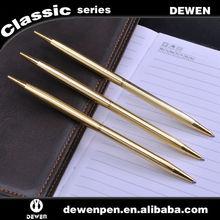 Dewen new type promotional slim and thin metal pen,name printed pen