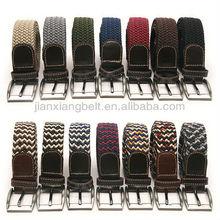 Jianxiang Jeans' Eyelets Cotton Leather Webbing Belts For Men s Women s