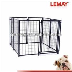 5' x 5' x 4' Black metal wire mesh fencing dog kennel outdoor or indoor