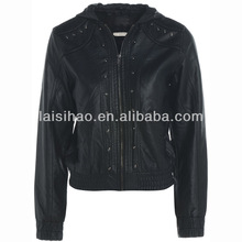 wholesale cheap girls leather jacket