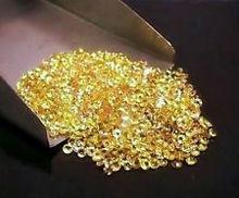loose yellow sapphire gem stone