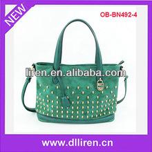 skull studs fashion women big handbag skull bag