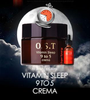 Korean cosmetic OST Vitamin Sleep 9 to 5 Crema, Whitening, nourishment, Vitamin, Korea, Vita C cream, night cream, brightening