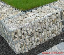 gabion rock retaining wall/gabion box machineGalvanized Gabion basket/ Pvc Coated Gabion Box 2x1x1