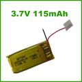 Shenzhen fabricación 3.7v 115 mah para eléctrico y reloj gps de seguimiento