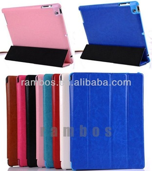 Flip Leather Cover Case with Stand Auto Wake/Sleep for ipad 2 3 4