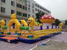 Hot sale commercial grade PVC Tarpaulin brand new FU056 inflatable mushroom fun city