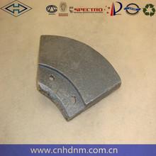 High quality High manganese concrete pump spare parts Dana Parker 114 small leaves for concrete mixer plant spare parts