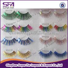 Free sample colored fake eyelashes,false eyelashes