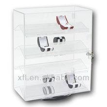 ad alta trasparenza rotazione vetrina acrilico con serratura e chiave