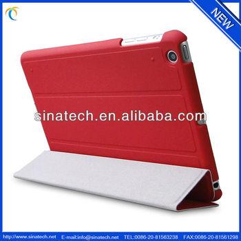 For Apple ipad mini 2,smooth leather cover for new ipad mini 2