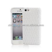 Hot!!! Unique Design Rhinestone Bling Mobile Phone Plastic Hard Case Cover For Apple Iphone5