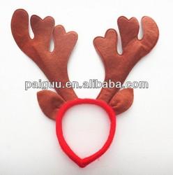 With Ear Brown Christmas Reindeer Antlers Headband
