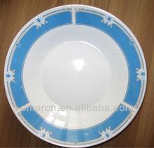 """8"""" porcelain round soup plates blue color"""