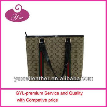 2013 fashional women name branded tote bag wholesale