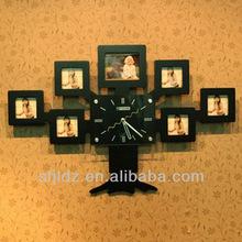 Casual fashional wooden decorative wall clock mechanism