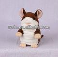 Cute plush hamster com o movimento de cima para baixo&, pode aprender a falar, electronic movimento& brinquedos de pelúcia