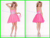 Cheap High-end Quality Fashion Sexy Short Bodice Juniors Hot Pink Cocktail Dress BE-293