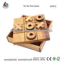 wooden game Tic Tac Toe 2D