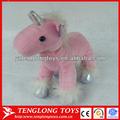 el estilo de moda nuevo producto de color rosa de peluche de felpa caballo con un unicornio