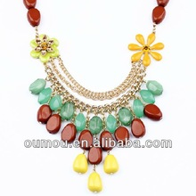 2014 New Products Personality Fresh Flower Necklace
