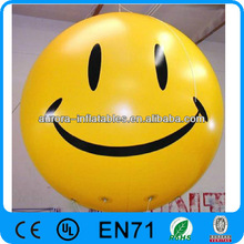 Custom Smiling face inflatable ballon/Inflatable Helium ballon