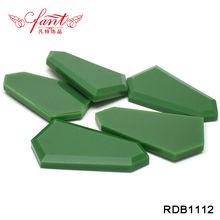 emerald colorl right place irregular shape resin rhinestone plane cutting