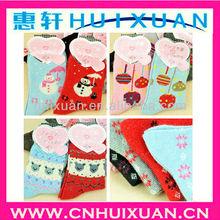 yiwu huixuan Cartoon Warm Socks for female winter/autumn woven socks best for Christmas promotion Blending Socks for gifts