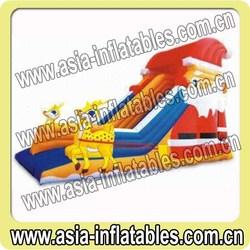 8m Long Christmas Inflatable Slide on Sale