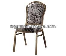 Modern design stacking cheap modern iron banquet chair YA-D016