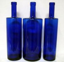 Blue Glass Spirit Bottle