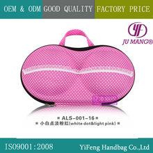 JU MANG A00116 600D nylon cheap fashional EVA portable bra bag bra organizer storage bag