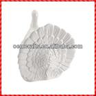 Nice resin white handmade decorative turkey Souvenir Thanksgiving