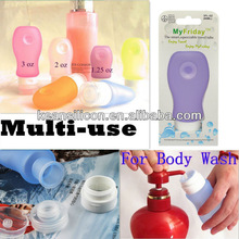 89ml Lotion Bottle/TSA Airline Carry-on Cute Silicone Condiments Tube Squeezable Travel Empty Container Cosmetics