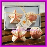 Ceramic Shell Starfish Salt and Pepper Shakers Wedding Door Gift