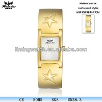 Hot selling vogue fashion quartz man gold watch