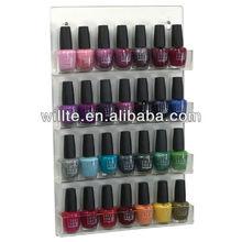 2013 Retail store Custom nail polish wall rack/nail polish display acrylic/wall mount plexiglass nailpolish display stand