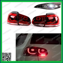 MKVI Cherry Red LED Tail Light Set - With Rear Fog