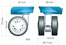 samsonite luggage spinner wheels