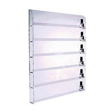 Slat wall clear acrylic nail polish display shelf