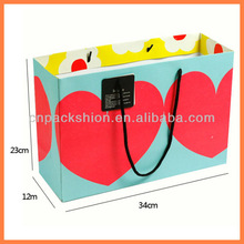 Rope handle walmart Gift Bags with red bow for promotion
