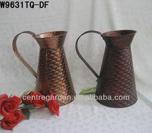 Classical antique copper finished galvanized zinc decorative flower vase for sale
